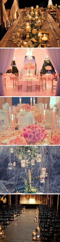 24 Beautiful Ways To Use Candles At Your Wedding ❤ You could use wedding candles in your centerpiece arrangement, decorate tables and chairs. See more: http://www.weddingforward.com/wedding-ideas-with-candles/ #wedding #candles