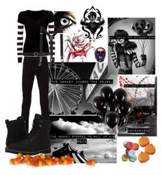 """• Laughing Jack • 🎪"" by redrose9 ❤ liked on Polyvore featuring Diesel, DKNY, James Perse, Maison Margiela, MANGO MAN and Timberland"