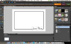 Creating a Border + Word Overlay {Photoshop Elements Tutorial}