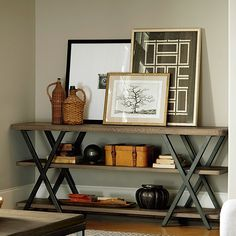 Lena Console Table - Rustic Industrial on Joss & Main