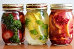 Strawberry Basil, Lemon Mint and Blood Orange Pomegranate Infused Vodka Recipes