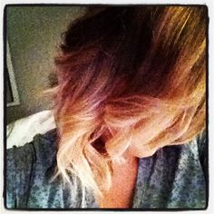 Short Ombré Hair I just got my done similar to this I'm loving the heck out of it!!?