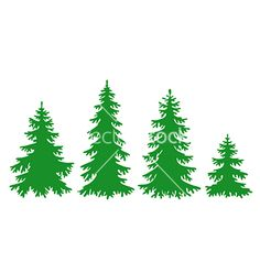 Silhouettes of fir-trees vector