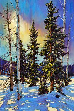 "Items similar to Original Landscape Oil Painting by Neil Piermattei ""An Alaskan Creek"" on Etsy Watercolor Landscape, Abstract Landscape, Landscape Paintings, Watercolor Paintings, Watercolor Artists, Abstract Oil, Abstract Paintings, Oil Paintings, Watercolour"