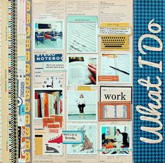 Work: what i do - Love this layout