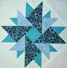 Double Aster Block from QuiltersCache for the ambitious! Star Quilt Blocks, Star Quilts, Mini Quilts, Scrappy Quilts, Barn Quilt Patterns, Pattern Blocks, Star Patterns, Quilting Patterns, Free Quilt Block Patterns