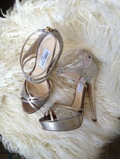 Platform Glitter Jimmy Choo Bridal Shoes
