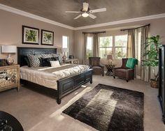 Refreshing Natural Decoration in Contemporary Interior: Trendy Arch Crossing With Spacious Bedroom Interior Desgn With Comfortabel Rug Desig...