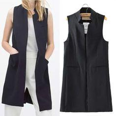 Image result for sleeveless blazer vest