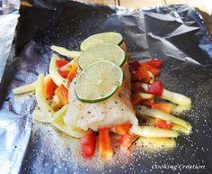 Grilled Zesty Haddock & Vegetable Foil Packets