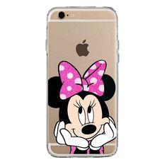 IP6 6S Couverture Coque TPU transparent GEL étui de protection scintillement, Glitter collection spéciale de paillettes, Disney Minnie Mouse Fluo, iPhone 6 6S: Amazon.fr: High-tech