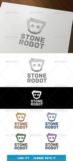 Stone Robot - Logo Design Template Vector #logotype Download it here: http://graphicriver.net/item/stone-robot/3041876?s_rank=1632?ref=nesto