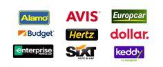 Auto Europe werkt samen met Hertz, Avis, Dollar, Budget, Enterprise, National, Europcar, Buchbinder, Peugeot