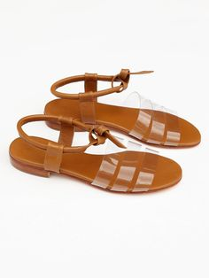 Martiniano - Leather Cristal Sandal - Tostado