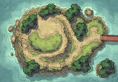 Three narrow paths lead to this island's flat peak, where there might rest a temple, statue, lighthouse, or other!     This island map, along with the Island Crossing, is loosely based on the Godai-dō Temple in Matsushima. Rest assured, a similarly inspired temple set piece is next on my list! Whether your players are on …