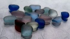 Brilliant Vivid Surf Tumbled Beach Gems Flawless Genuine Sea Glass Lot Red Jq