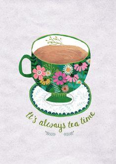 It's Always Tea Time...Giclee print of an original illustration