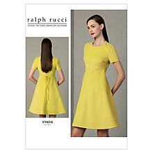 Buy Vogue Ralph Rucci Women's Dress Sewing Pattern, 1404 Online at johnlewis.com