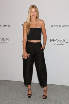 Gigi Hadid in crop top and culottes