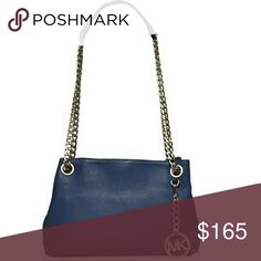 ❤SPECIAL SALE❤ MK Jet Set chain messenger bag Steel Blue Saffiano leather and sparkling silver chain strap and hardware. NWT!!! Never opened, still in original wrapping with all tags attached! MSRP $198 Sale price - $140 TV - $200 Michael Kors Bags Shoulder Bags