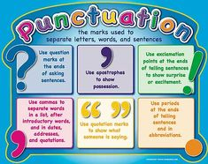 punctuation poster.... diy?