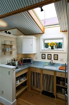 model kabinet dapur dari metal atau aluminium minimalis modern terbaru 2015