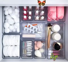 Tuesday Ten: Ways to Get Next Level Organized in 2019 - Lauren Conrad<br> Diy Makeup Organizer, Makeup Drawer Organization, Bathroom Organisation, Room Organization, Bathroom Storage, Organize Bathroom Drawers, Organization Ideas For The Home, Organize Room, Organizing Hair Accessories