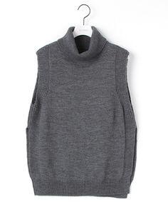 ELFORBR(エルフォーブル) 公式ファッション通販サイト / オフタートルネックノースリーブニット(ベスト)|セレクトスクエア