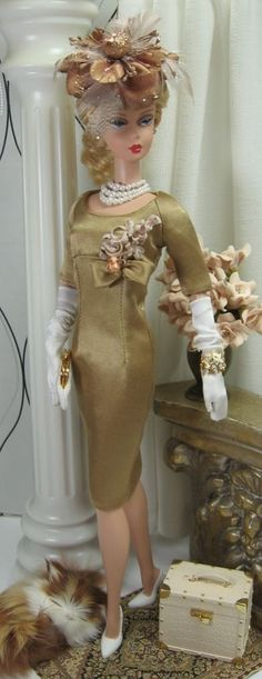 Beautiful Vintage-dressed Barbie -- every little girl wanted to look like her!