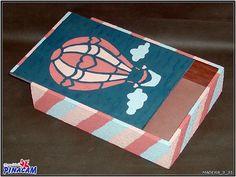 Caja con textura y estarcido.  www.manualidadespinacam.com #manualidades #pinacam #madera