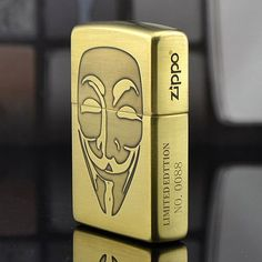Japanese Zippo 5 Sides V for Vendetta Lighter Limited Edition Zippo Collection, Cool Lighters, V For Vendetta, Pipes And Cigars, Zippo Lighter, Nerd, Fire Starters, Cool Inventions, Character Aesthetic