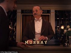 Wouldn't miss it: Bill Murray also joins Anderson again, the star has featured in all but one of the director's films