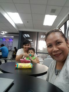 At NWorld Head Office with Ms. Joy for pay ins. Also with TA and Gen/baby York.