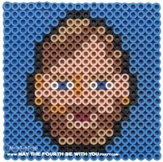 Obi-wan Kenobi: Star Wars perler beads by May the 4th be with You Party Anette