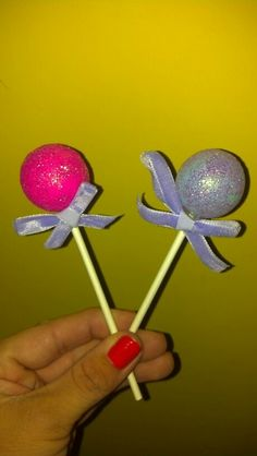 Home made lollipop ornaments