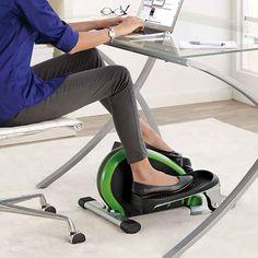 An under-the-desk elliptical.