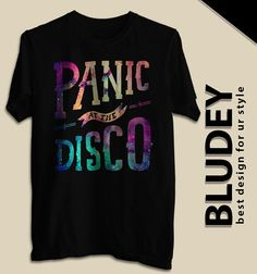 Galaxy and Panic! at The Disco Band Merch, Band Shirts, Men's Shirts, Panic! At The Disco, Disco Shirt, Galaxy T Shirt, Cool Outfits, Disco Outfits, Band Outfits