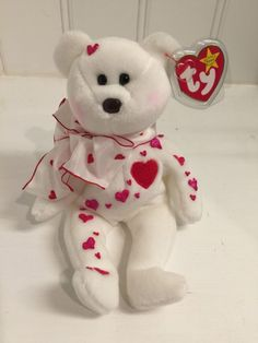 ~Decorated with Hearts ~VALENTINO. Love Bear TY BEANIE BABIES baby NWT - http://dolls.goshoppins.com/bears/decorated-with-hearts-valentino-love-bear-ty-beanie-babies-baby-nwt/