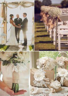 Burlap Wedding Decorations and Ideas