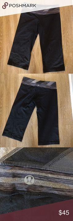 PRICE DROP!!! Lululemon Capri Leggings Good condition super cool and fun lululemon athletica Pants Leggings