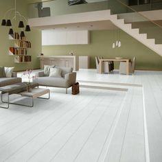 Unikale Gestaltung Von Wohnzimmer   Laminat In Weiß