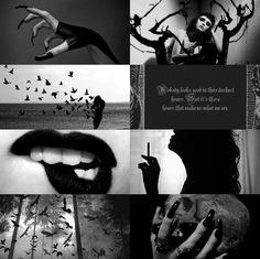 """Характер Эстетические: Беллатрикс Лестрейндж """"Здесь, в лесу, темный и глубокий Я предлагаю вам вечный сон.  """""""