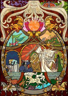 O artista Chinês (sim,tinha que ser asiático) Jian Guo que é fanático pelo mundo de Tolkien,resolveu contar as histórias do mundo da te...
