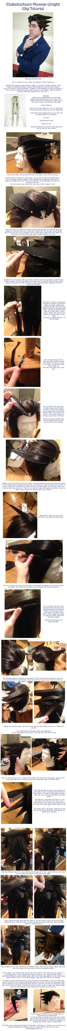 Using felt shapes to style - Phoenix Wright Wig Tutorial by Malindachan on deviantART