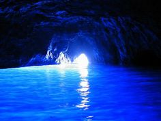 Capri's Blue Grotto...pictures don't do it justice!