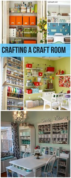Room Ideas & Projects Crafting a Craft Room. These are wonderful Ideas and tutorials for fabulous organization and inspiration!Crafting a Craft Room. These are wonderful Ideas and tutorials for fabulous organization and inspiration! Craft Room Storage, Craft Organization, Organizing Ideas, Scrapbook Organization, Storage Ideas, Diy Storage, Space Crafts, Home Crafts, Craft Space