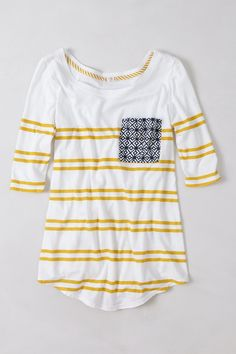 Kaleidoscope Pocket Tee (color: yellow) size small Anthropologie.com $48.00