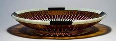 """""""Red Eye"""", 16"""" kilnformed bowl. #fusedglass #glassart #bowl #glass Fused Glass Art, Stained Glass, Bullseye Glass, Glass Artwork, Serving Bowls, Vases, Decorative Bowls, Bubbles, Inspire"""