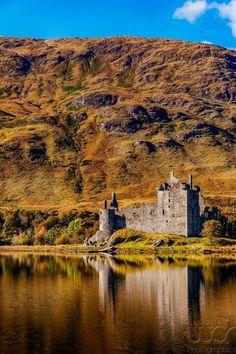 At the Kilchurn Castle in Lochawe, Scotland.