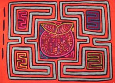 Kuna Tribe Hand-made Mola Textile Art Quilt - Panama 22.60698